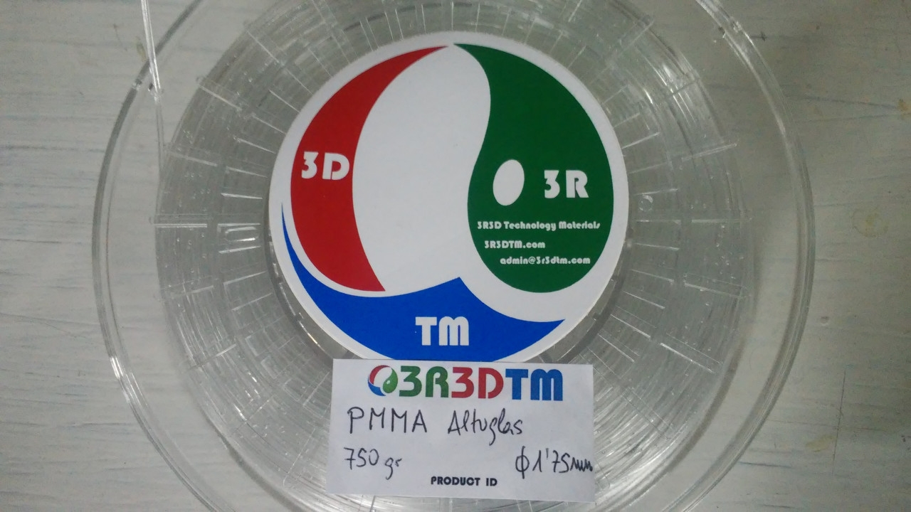 3R3DTM  PMMA Filament PMMA 1.75 mm
