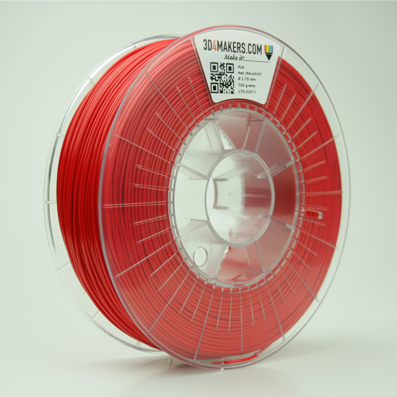 3D4Makers Red PLA Filament 2.85 mm