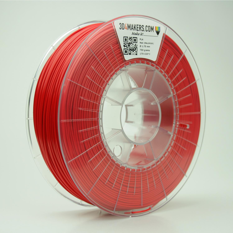 3D4Makers Red PLA Filament 1.75 mm
