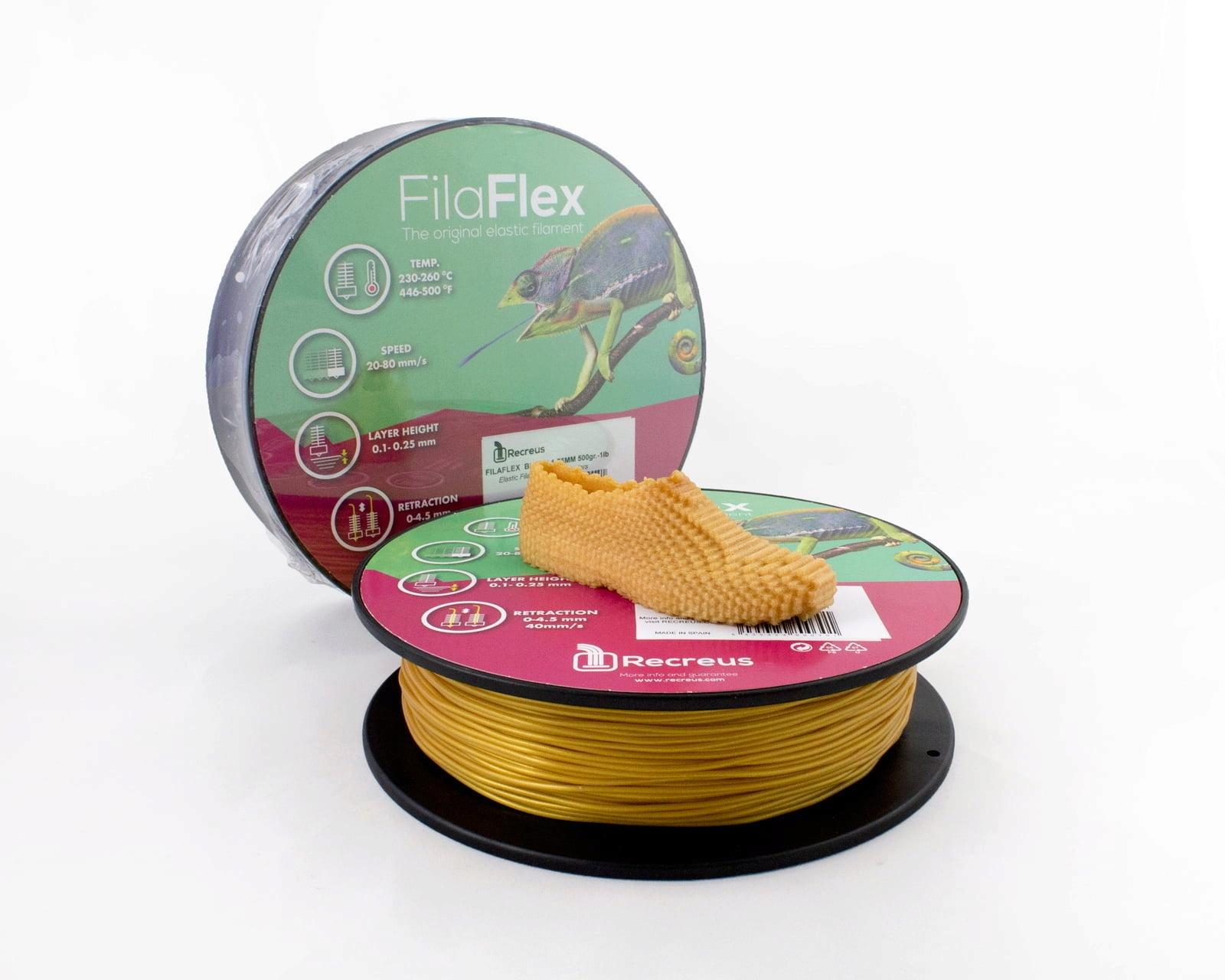 FilaFlex Gold  82A TPE Filament 1.75 mm 500g