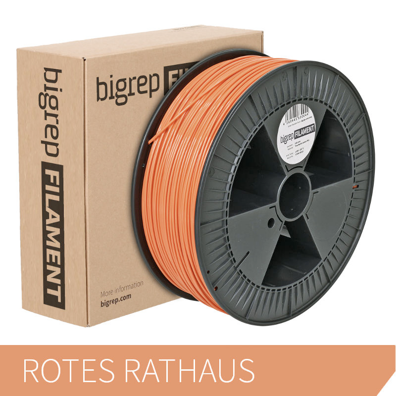Bigrep Red-Orange PLA Filament 2.85 mm