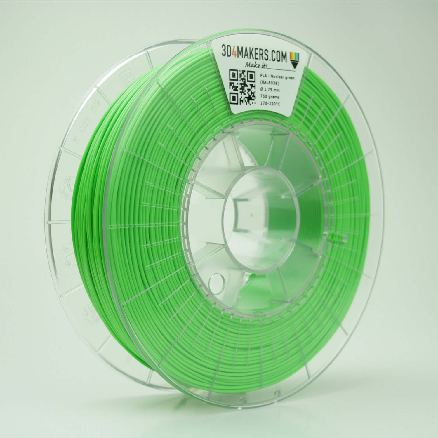 3D4Makers Nuclear Green PLA Filament 1.75 mm