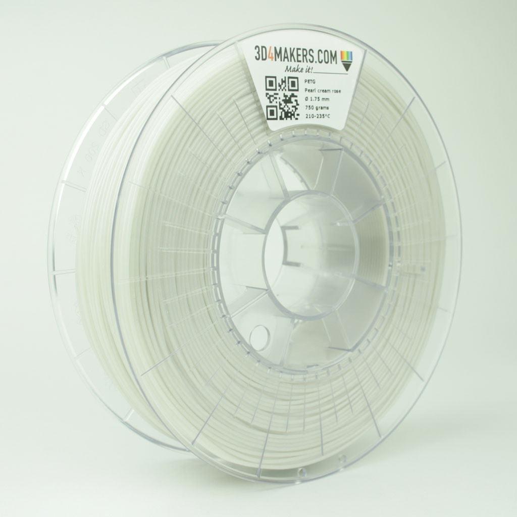 3D4Makers Pearl Cream Rose PETG Filament 1.75 mm