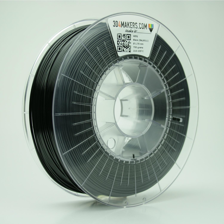 3D4Makers Black PETG Filament 1.75 mm
