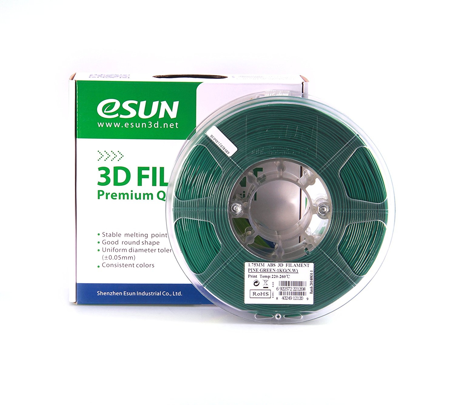 ESUN  GREEN ABS 1.75 mm 1kg