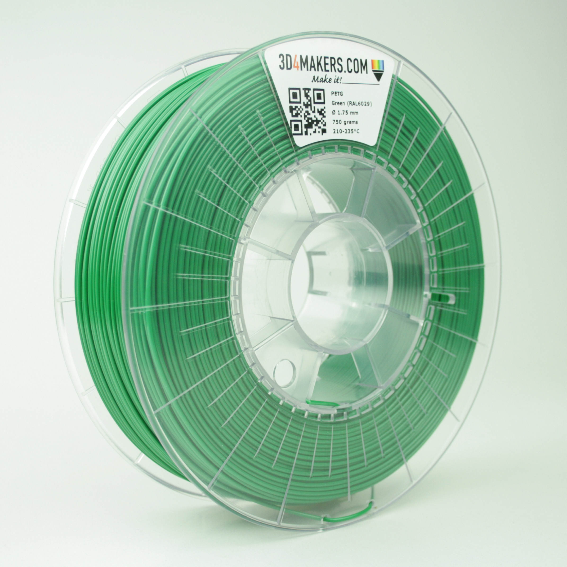3D4Makers Green PETG Filament 2.85 mm