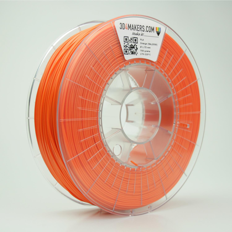 3D4Makers Orange PLA Filament 1.75 mm
