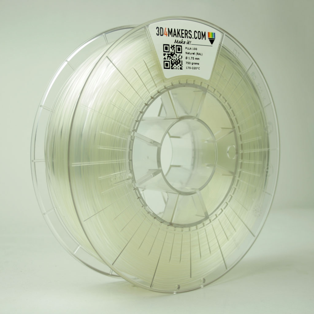 3D4Makers Natural PLLA Filament 1.75 mm