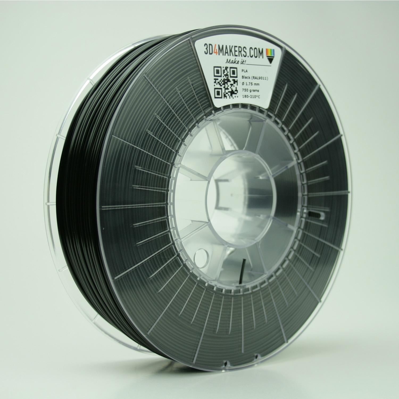 3D4Makers Black PLA Filament 1.75 mm