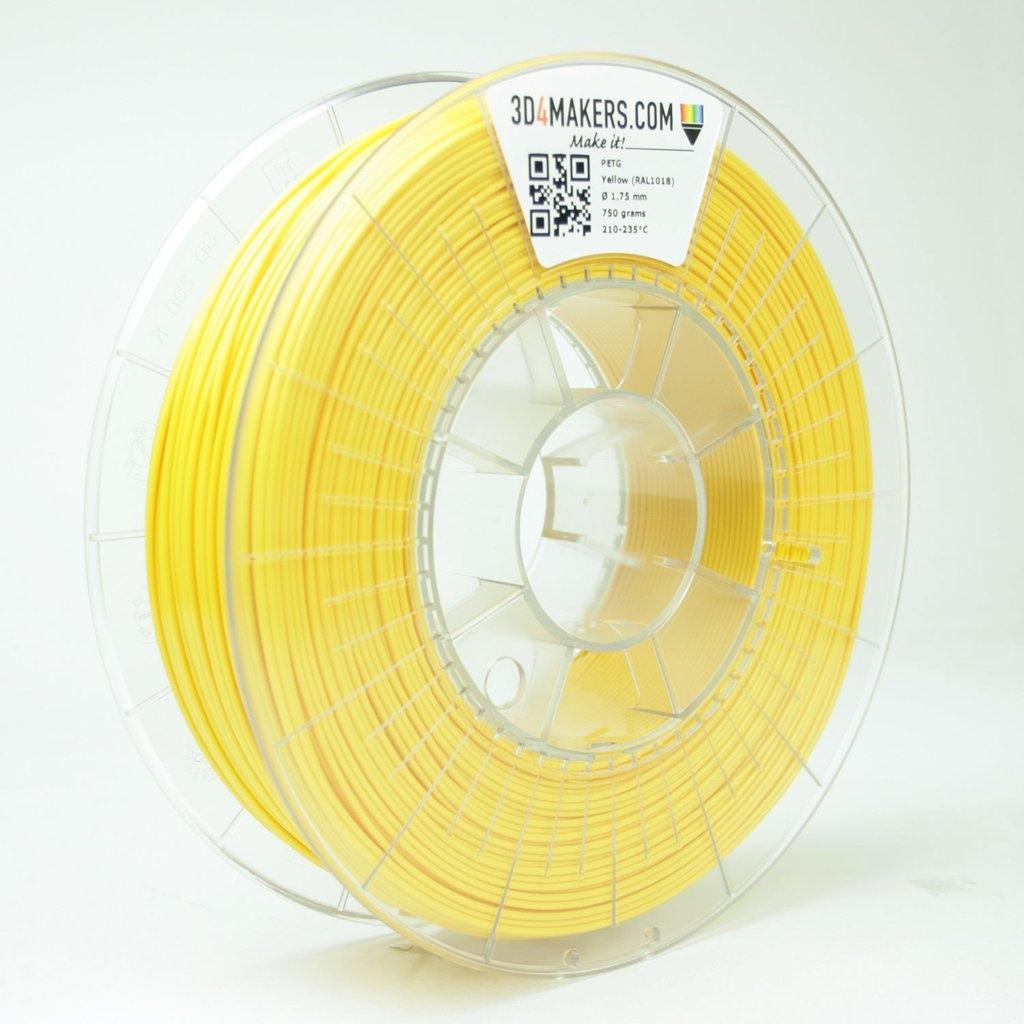3D4Makers Yellow PETG Filament 1.75 mm