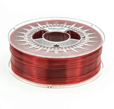 Extrudr MF Red Transparent PETG 1.75 mm