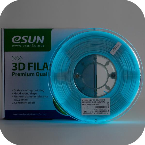 ESUN  LUMINOUS Blue ABS 1.75 mm 1kg