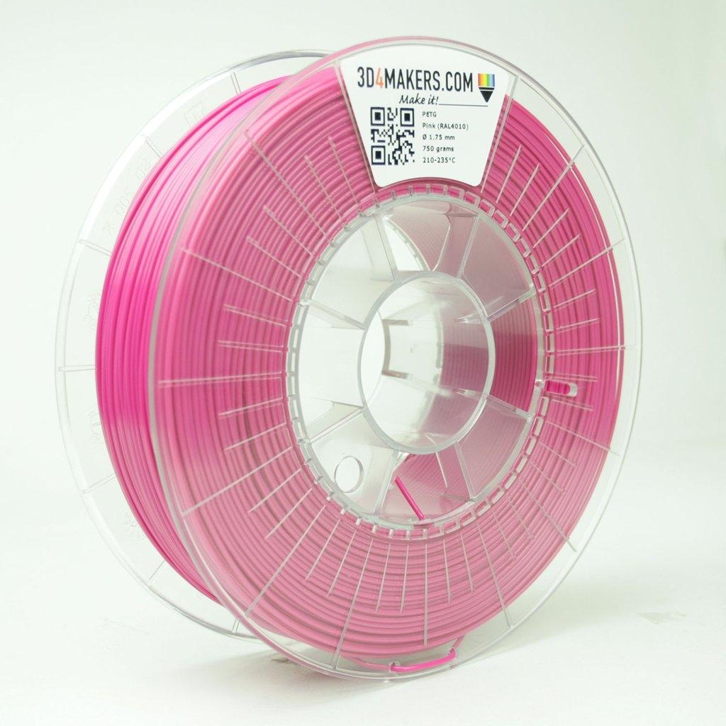 3D4Makers Pink PETG Filament 2.85 mm