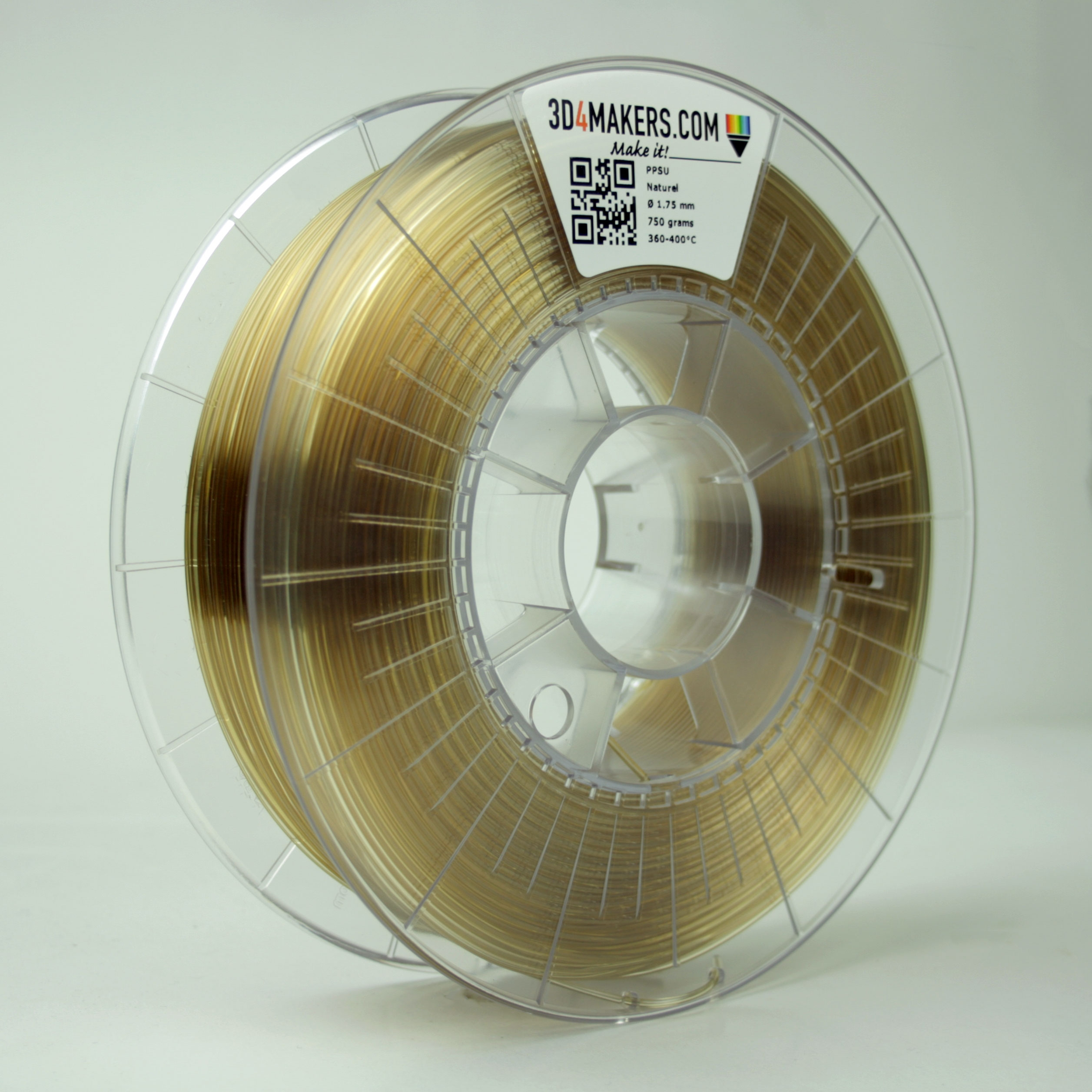 3D4Makers Natural PPSU Filament 1.75 mm