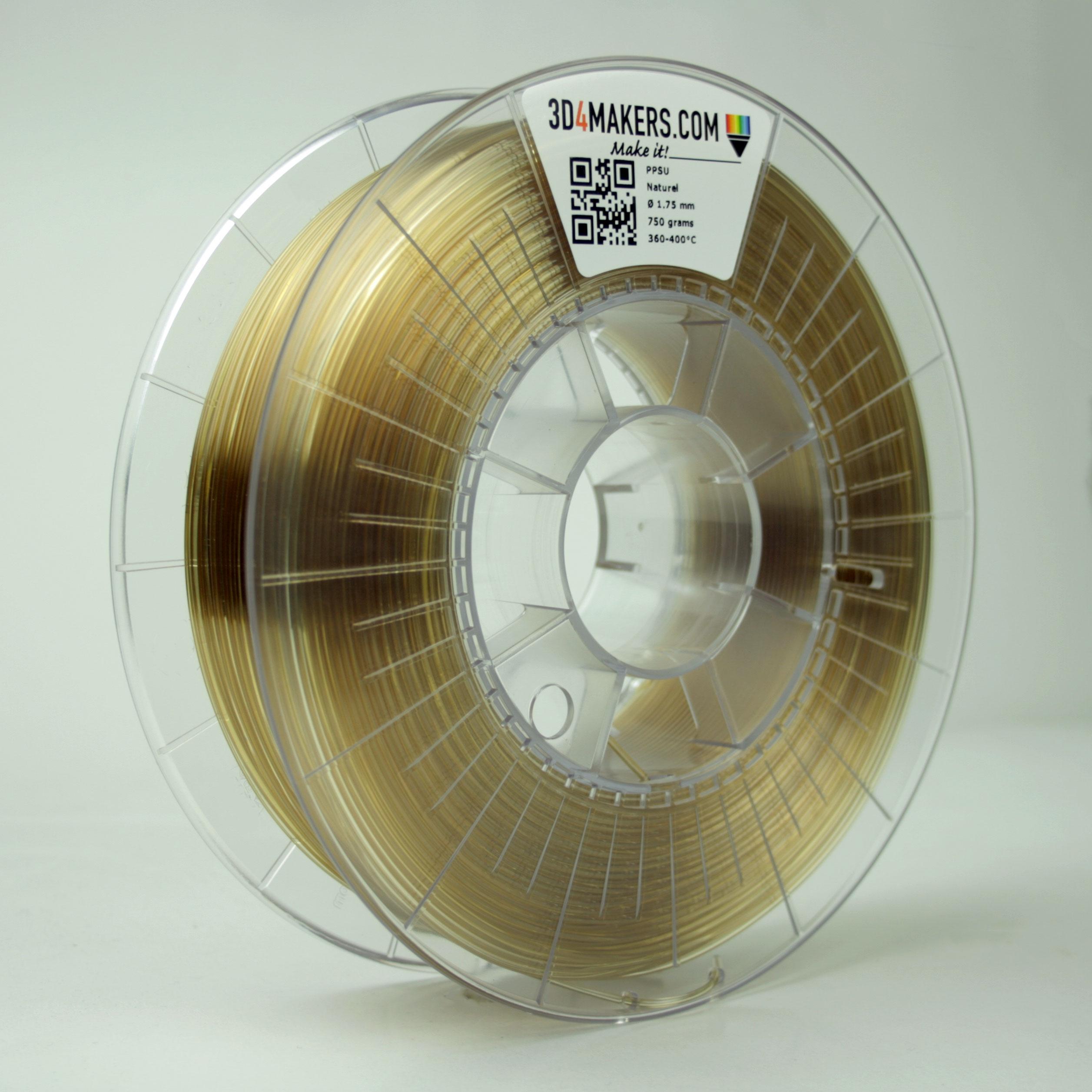 3D4Makers Natural PPSU Filament 2.85 mm