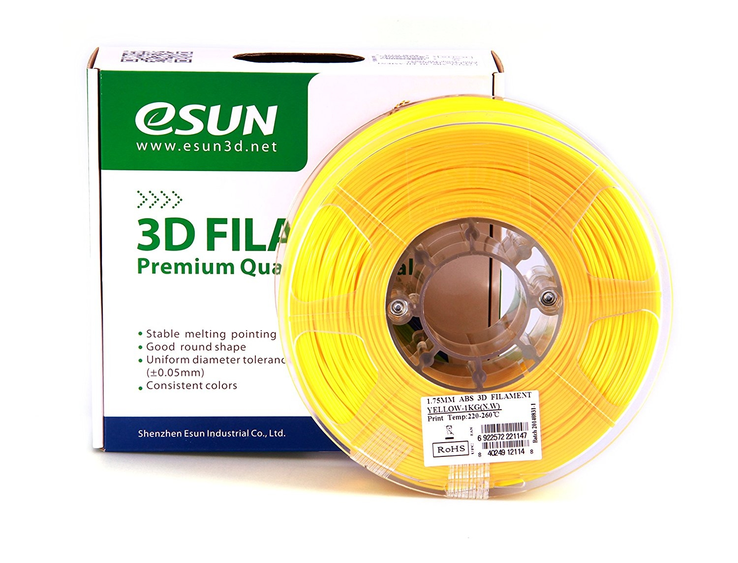 ESUN  YELLOW ABS 1.75 mm 1kg
