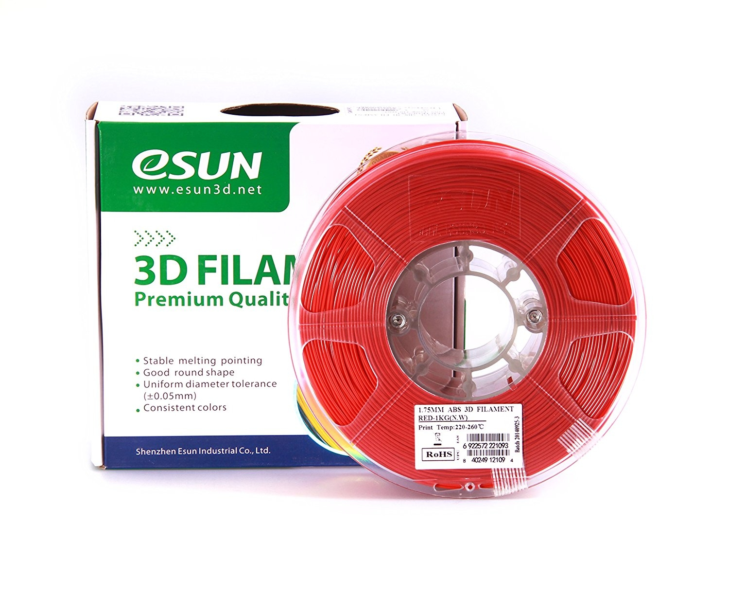 ESUN  RED ABS 1.75 mm 1kg