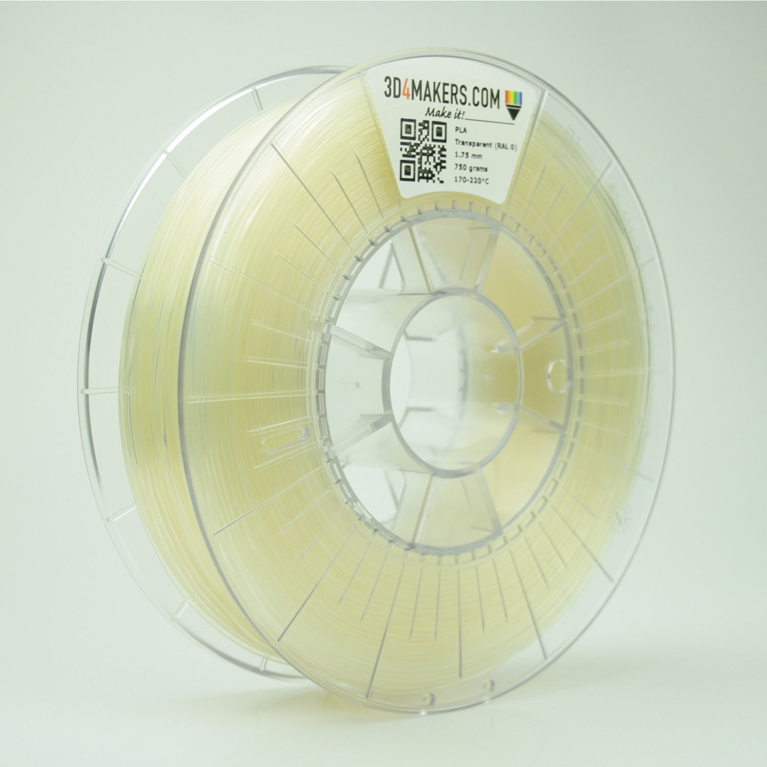 3D4Makers Transparent PLA Filament 1.75 mm
