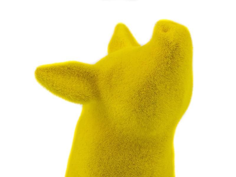 Polyamide Velvet Yellow