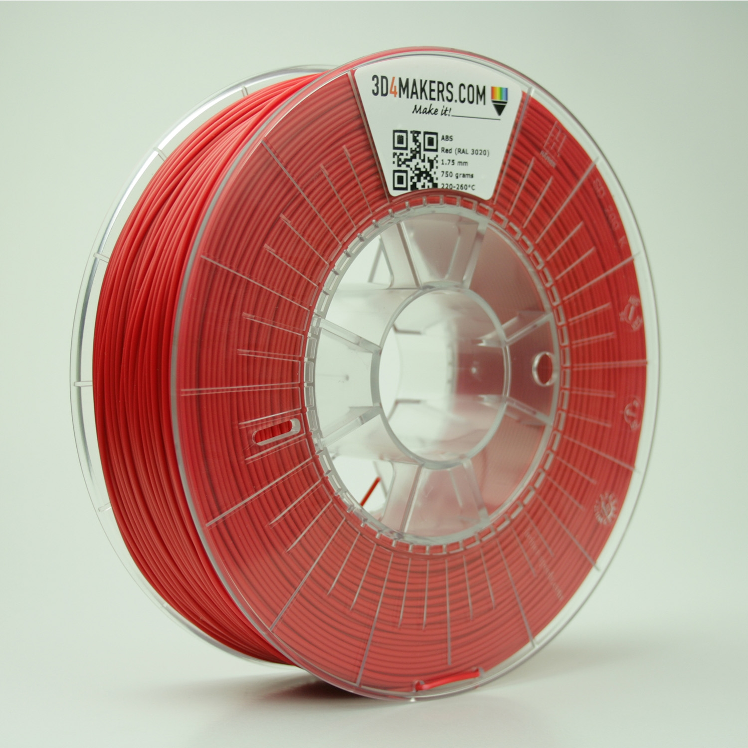 3D4Makers Red ABS Filament 1.75 mm