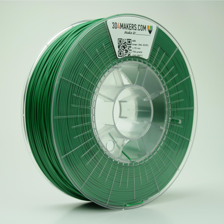 3D4Makers Green ABS Filament 1.75 mm