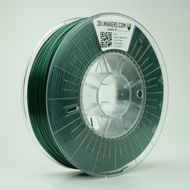 3D4Makers Green PLA Filament 1.75 mm